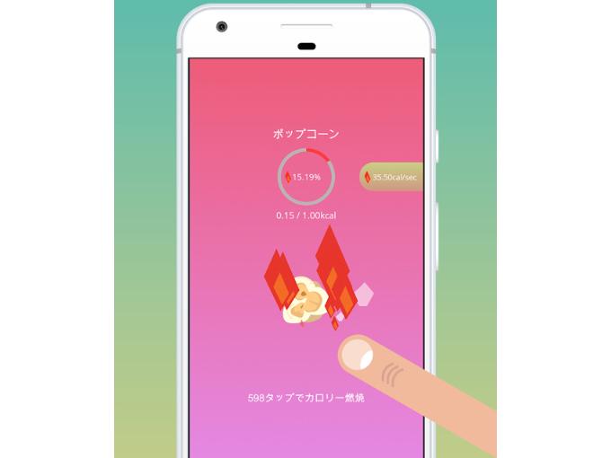 ポップコーンを燃焼している画像
