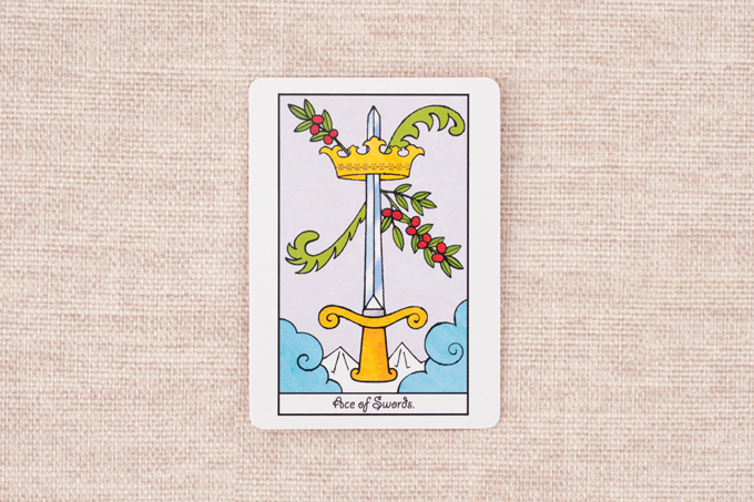 1本の剣と王冠の絵