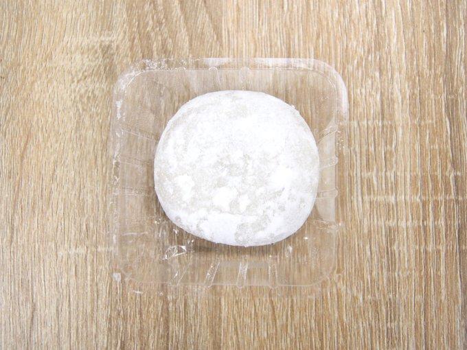 容器に入った「鹿児島県産安納芋の純生クリーム大福」の画像