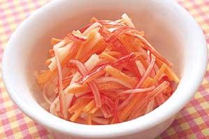にんじんとかにかまのサラダの完成イメージ