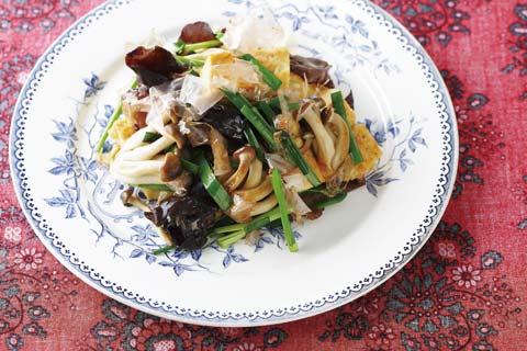 きのこと豆腐のチャンプルーの完成イメージ