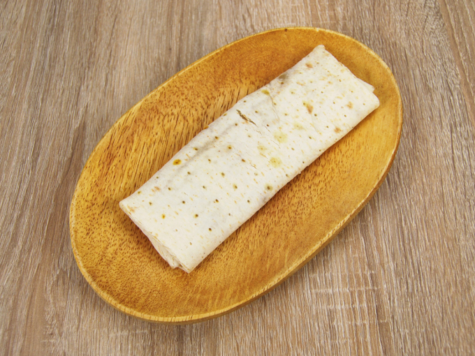 お皿に移した「ブリトー 肉たっぷりタコスミート」の画像