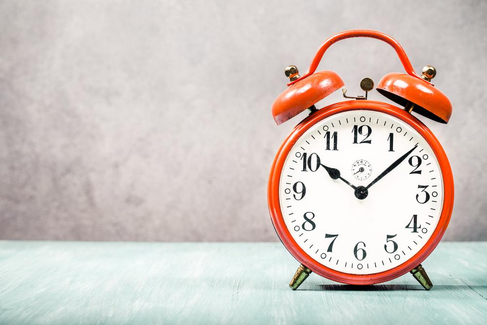 お風呂に入る時間を示す時計