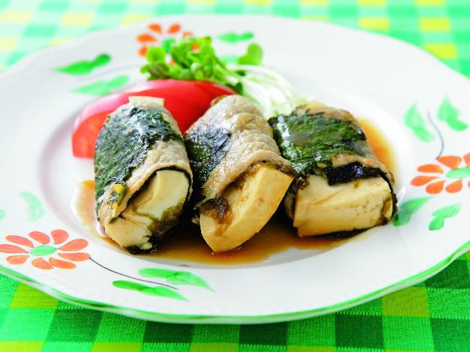 豆腐の肉巻きソテー