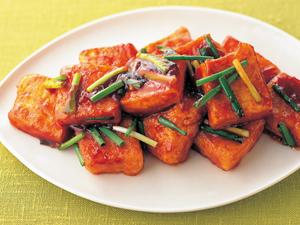 豆腐ケチャップソテー
