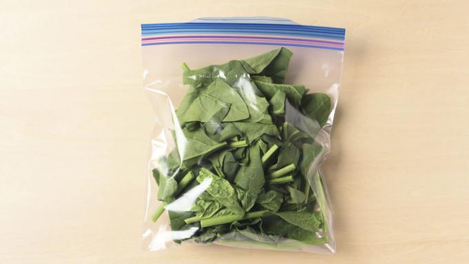 ほうれん草・小松菜の冷凍保存