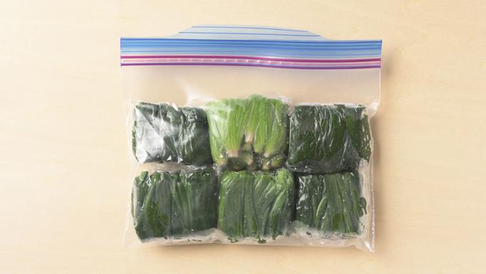ほうれん草・小松菜を茹でて冷凍する場合