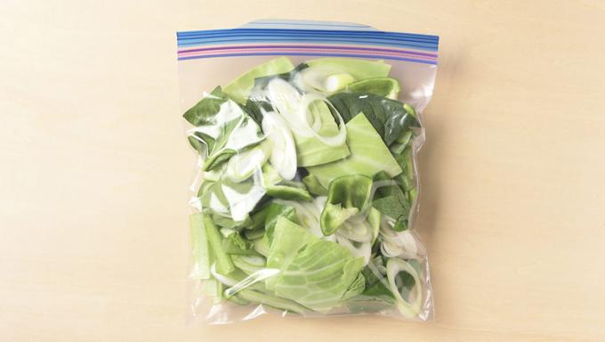 ミックス野菜の冷凍保存