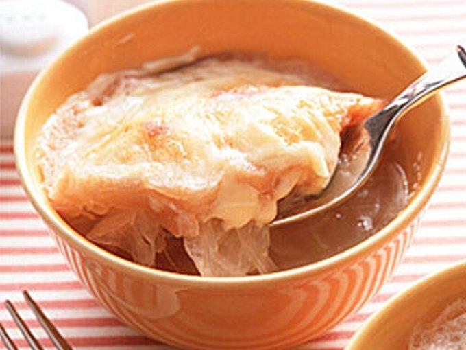 オニオングラタンスープの完成イメージ
