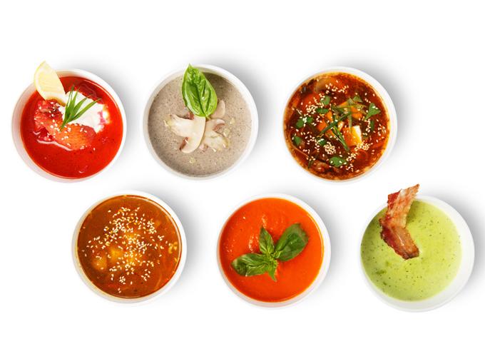 さまざまなスープ