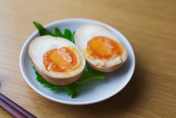 半熟卵の作り置き