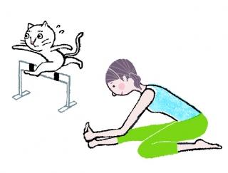 【今日のねこストレッチ】トレーニング効果を底上げ!美脚をつくる「ハードルストレッチ」