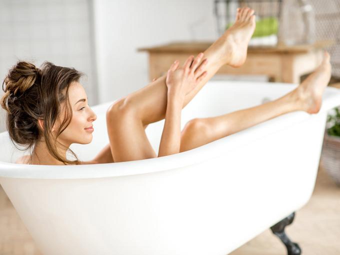 お風呂でマッサージ