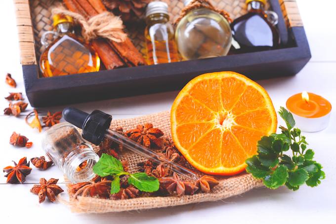 オレンジとアロマオイル