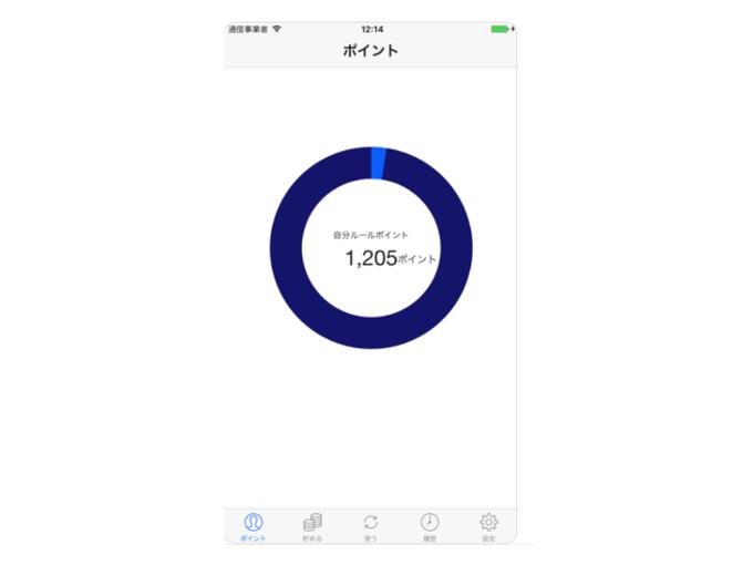 ホーム画面の表示画像