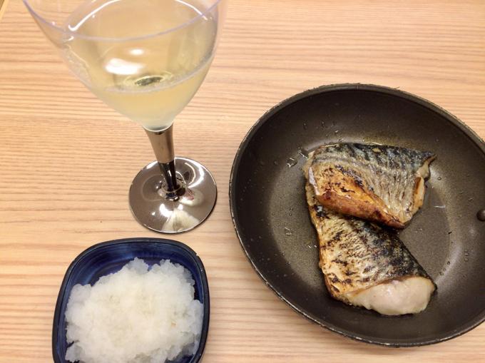 サバと白ワイン