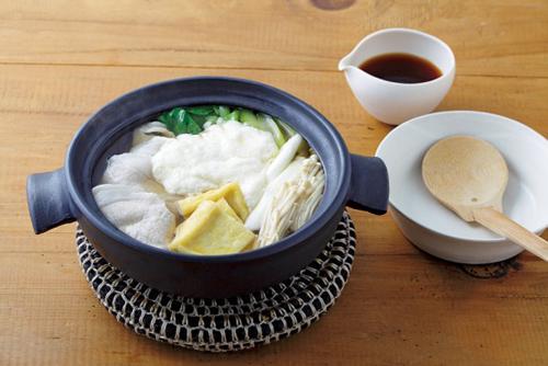 豚肉と小松菜のひとり鍋