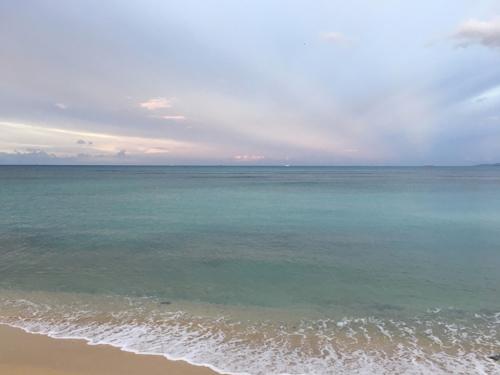 ハワイの海、小波