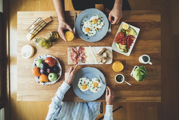 卵を使った朝食