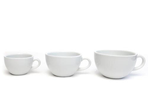 大きさがちがう3つのスープ皿