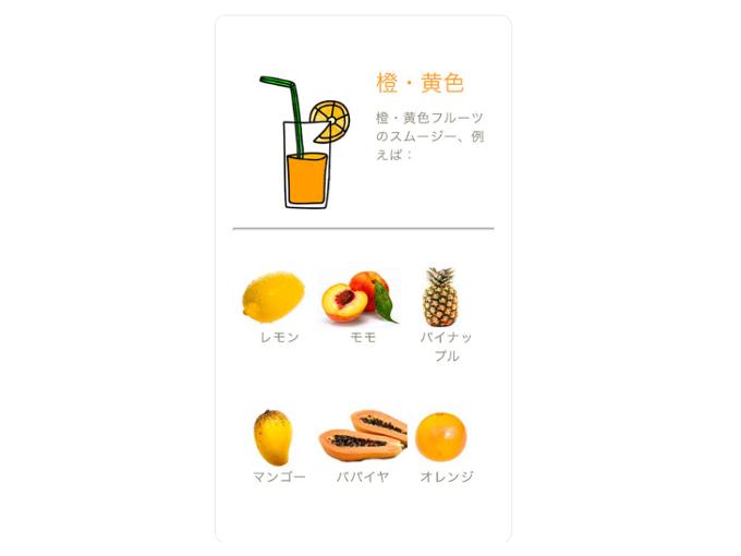 「橙・黄色」のスムージー紹介画像
