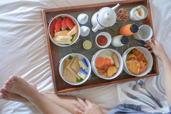バランスのよい洋風の朝食
