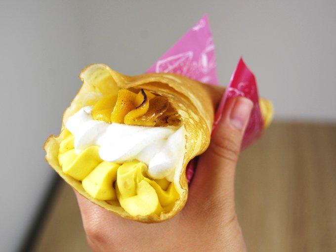 「安納芋のクレープ」のアップ画像