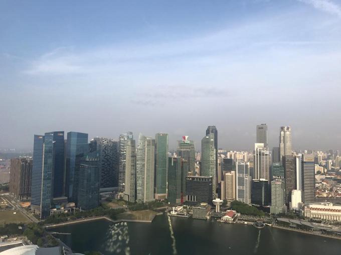 シンガポールを一望したビル街