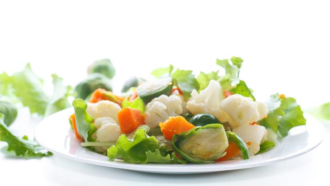 ゆでた野菜