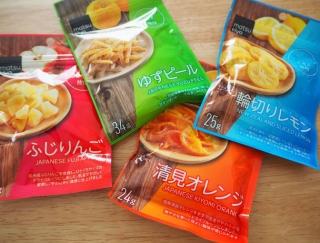 【マツキヨ】デスクにもバッグにも常備確定! ドライフルーツおやつ4種類食べ比べ