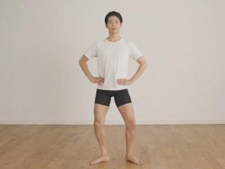美尻トレーニング中の竹田純さん