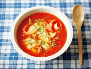 血液さらさら&代謝アップ!シーフード風味の菌活トマトスープの作り方