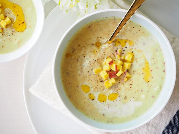 れんこんとさつまいもの美腸スープできあがり