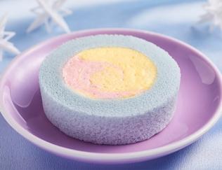 公式サイトで掲載された「プレミアムカラフルユニコーンロールケーキ」の画像