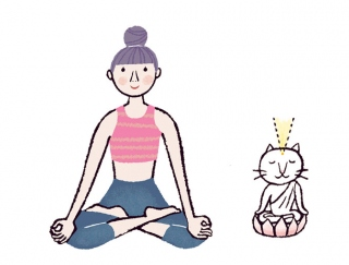 「イライラ」や「ストレス」に負けないメンタルをつくる瞑想ポーズ #今日のねこヨガ