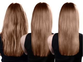 うねった女性の髪質が変わる様子