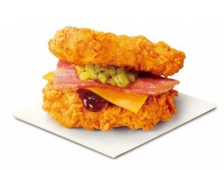 チキンが具材をはさむ側になってる(笑) 今日から発売のケンタッキー「ザ・ダブル」が攻めている! #Omezaトーク