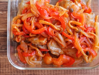 ピリ辛味がおいしい☆たっぷり野菜のチリチキン #今週の作り置き