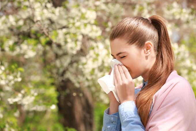 アレルギーのある女性