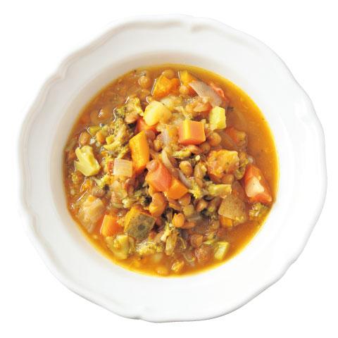 レンズ豆と野菜のごろごろスープの完成イメージ