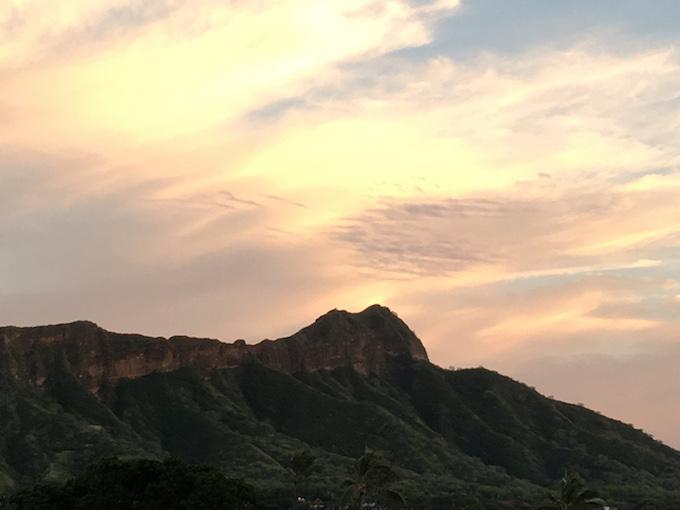 ハワイの山景色