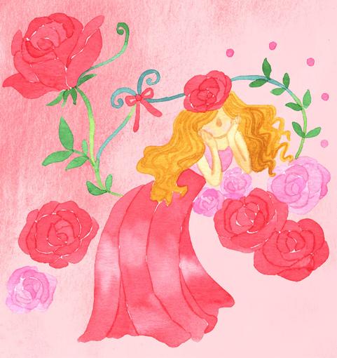 薔薇の人のイラスト