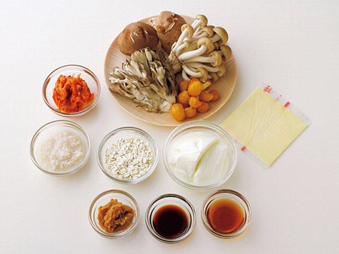 菌活スッキリスープの材料例