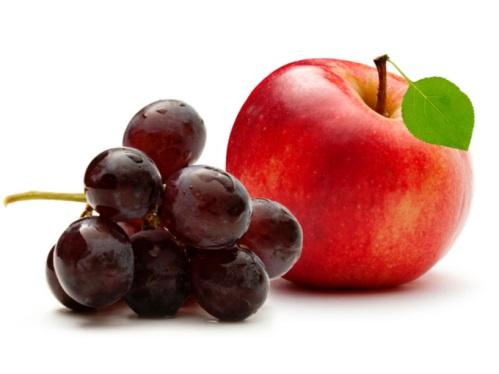 ぶどうとりんご