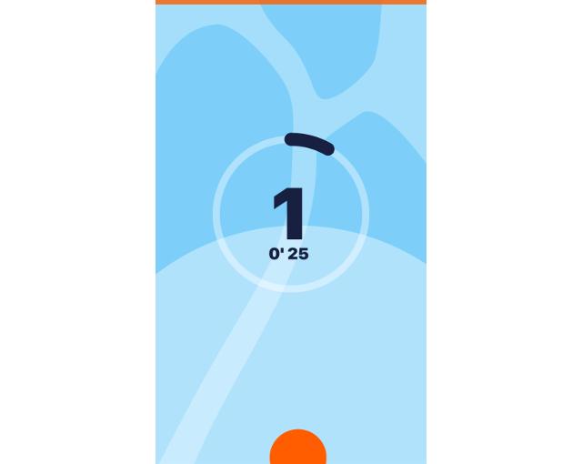 アプリがスクワットの回数をカウントしている画像