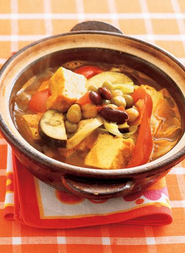 まめ豆カレー鍋の完成イメージ