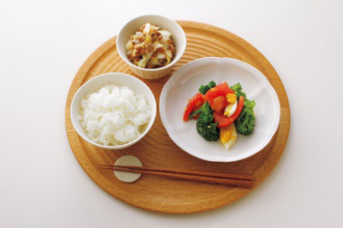 和食の朝食の食事例