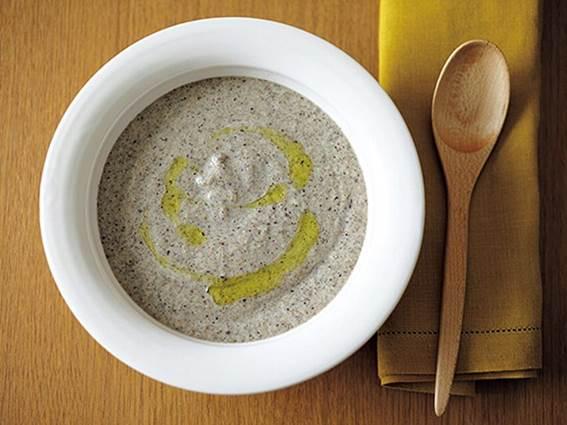 ごぼうとひじきの菌活みそポタージュスープの完成イメージ