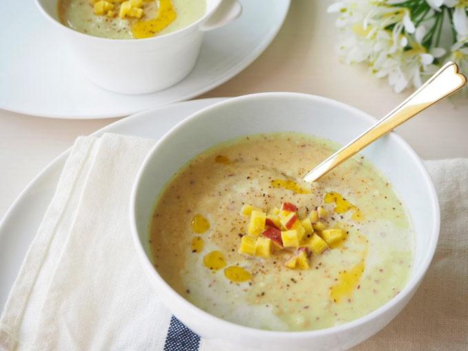 さつまいもとれんこんの美腸スープできあがり