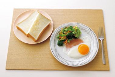 洋食の朝食の食事例